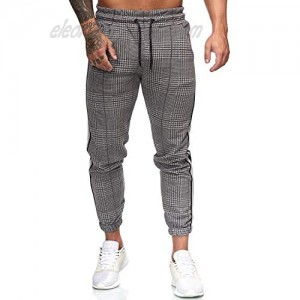 Halfword Fashion Mens Joggers Athletic Track Pants Slim Fit Stretch Flat Front Skinny Dress Pant Sweatpants Casual Trousers