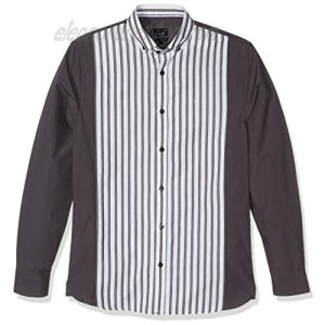 AX Armani Exchange Men's Long Sleeve Button Down Shirt with Striped Body and Collar