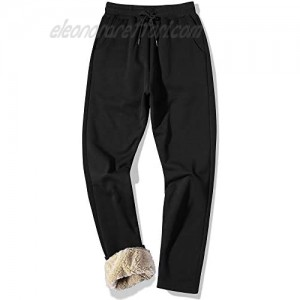 MACHLAB Men's Thermal Fleece Jogger Pants Sherpa Lined Sweatpants Winter Warm Thick Track Pants