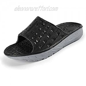 EASYANT Men Shower Shoes Arch Support Recovery Slide Sandals Anti Slip Sport Slippers