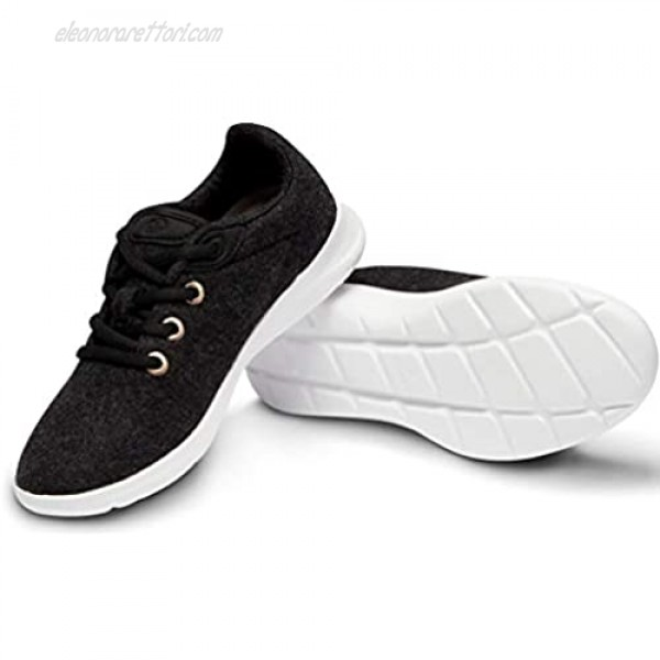 Merinos Men's Lace Up Black with White Sole - Size 11