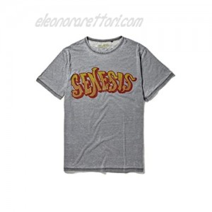 Genesis Foxtrot Graphic Mid Grey T-Shirt by Re:Covered