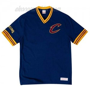 Mitchell & Ness Cavaliers Men's Overtime Win Vintage V-Neck T-Shirt Navy (Small)