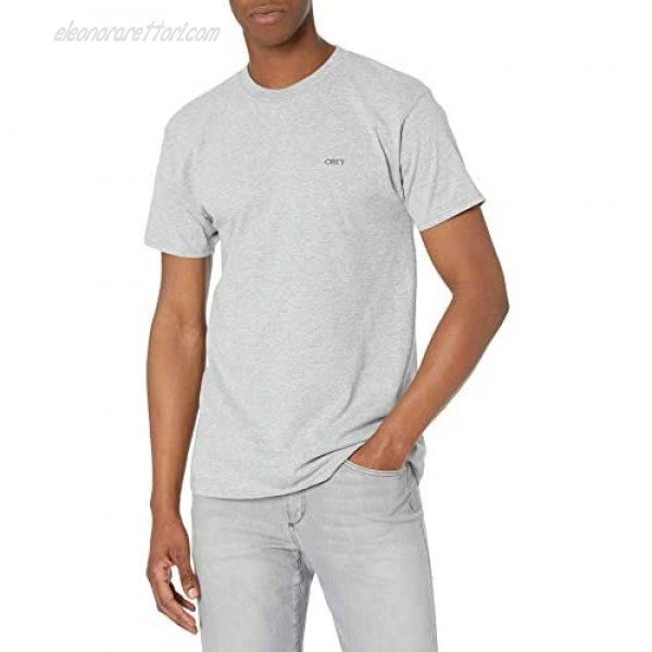 Obey Men's Classic Tee with Set in Collar and Double Needle Sleeve and Bottom Hem