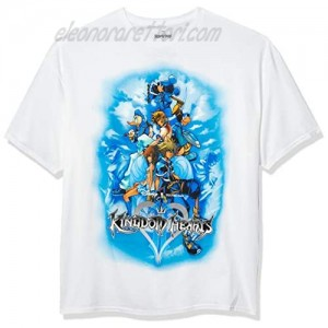 Spider-Man mens Mickey Mouse Donald Duck Kingdom Hearts Game T-shirt T Shirt White 3X-Large US