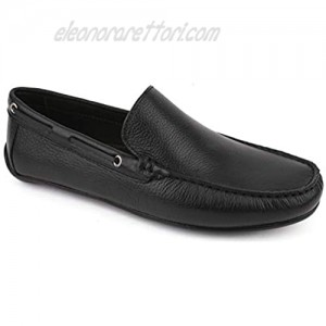Driver Club USA Mens Casual Comfortable Genuine Leather Lightweight Driving Moccasins Classic Fashion Venetian Loafer Slip On Breathable Driving Loafer