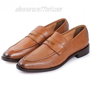 Lethato Men's Handcrafted Genuine Leather Penny Slip-On Leather Lined Loafer