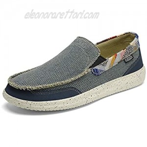 Mens Slip On Stretch Loafer Shoes Casual Canvas Sox Loafer Lightweight Jungle Boat Shoes