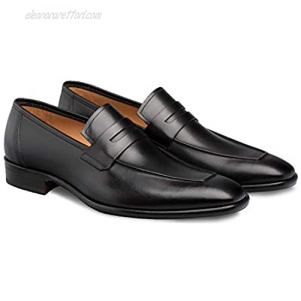 Mezlan Newport - Mens Luxury Penny Loafer Featuring Hand Finishes - Smooth European Calfskin Loafer - Handcrafted in Spain - Medium Width