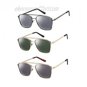 3 Pack Polarized Sunglasses for Men and Women 100% UVA/UVB Protection Stylish Glasses for Outdoor Driving Fishing Sports