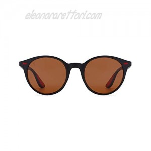 Polarized Round Sunglasses for Men and Women with UV Protection Designed in Italy by S&F 12038