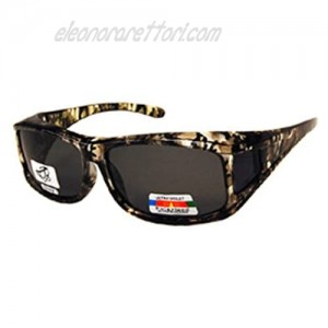 Unisex Camouflage Sun Shield Fit Over Sunglasses (Microfiber Pouch Included)