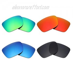 Mryok 4 Pair Polarized Replacement Lenses for Spy Optic Helm Sunglass - Stealth Black/Fire Red/Ice Blue/Emerald Green