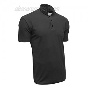 Clergy Polo Shirt Short Sleeve in Black Color