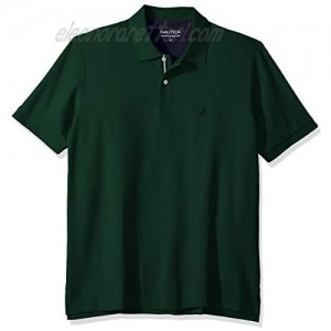 Nautica Men's Big and Tall Classic Fit Short Sleeve Solid Performance Deck Polo Shirt