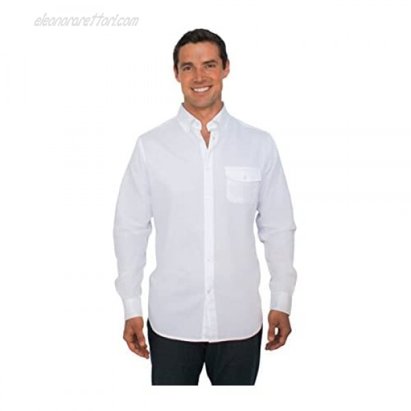 Clickbait Clothing Best Shirt Ever - Stainproof Waterproof Sweat-Wicking Men's Button Down Long Sleeve