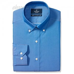 Brand - Buttoned Down Men's Tailored-Fit Button Collar Pinpoint Non-Iron Dress Shirt French Blue 18.5 Neck 37 Sleeve (Big and Tall)