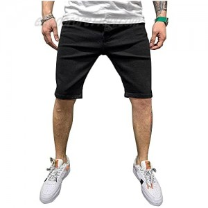 ZNU Mens Denim Shorts Ripped Destroyed Skinny Fit Stretch Jeans Pants