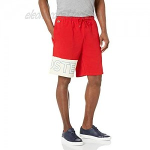 Lacoste Men's Colorblock with Wrapped Wording on Leg Shorts